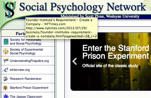 Social Psychology Network