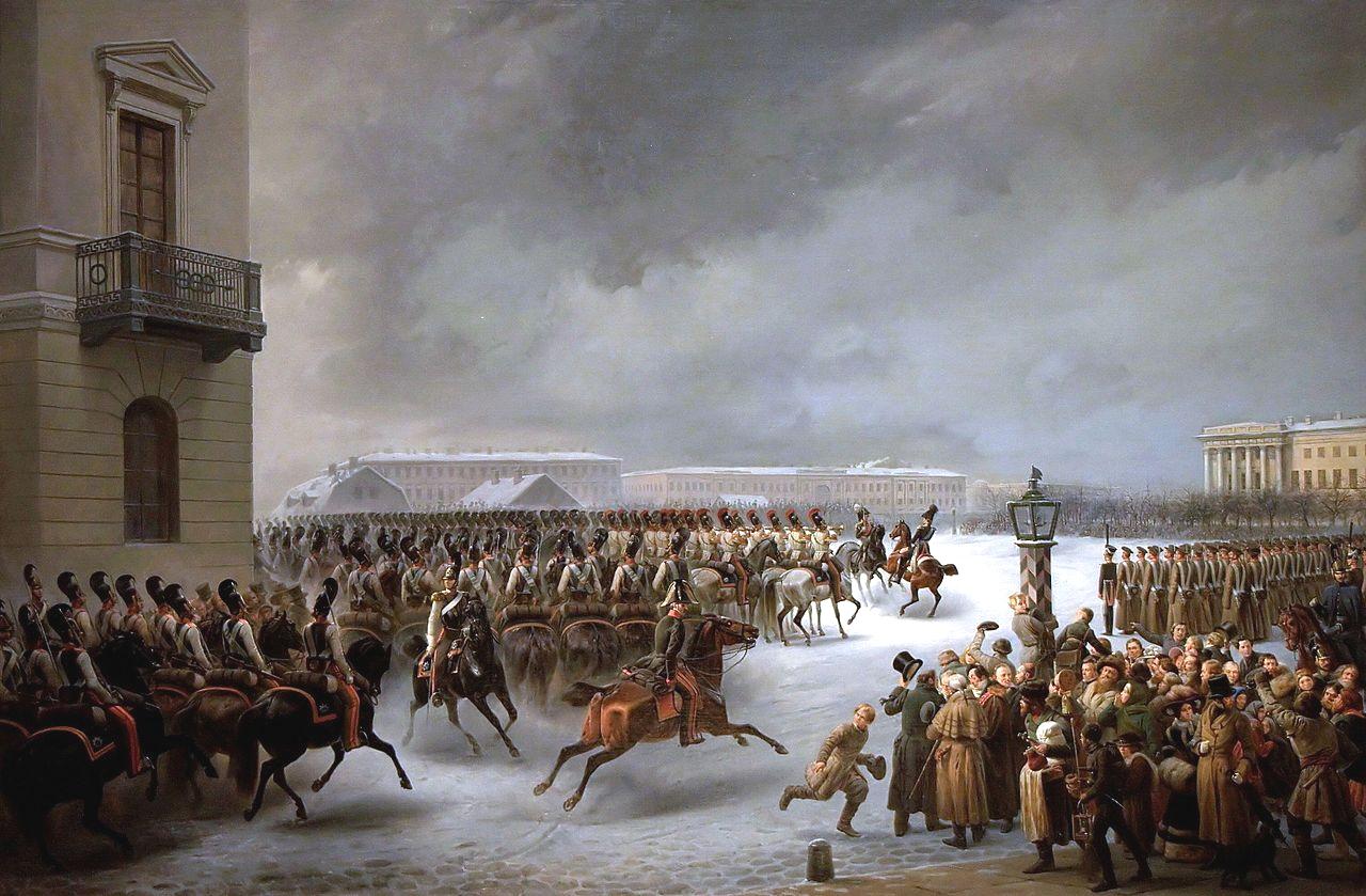Василий Тимм «Декабристы на Сенатской площади»