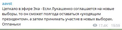 """Цепкало - о новых выборах: """"Лукашенко сможет принять участие"""""""