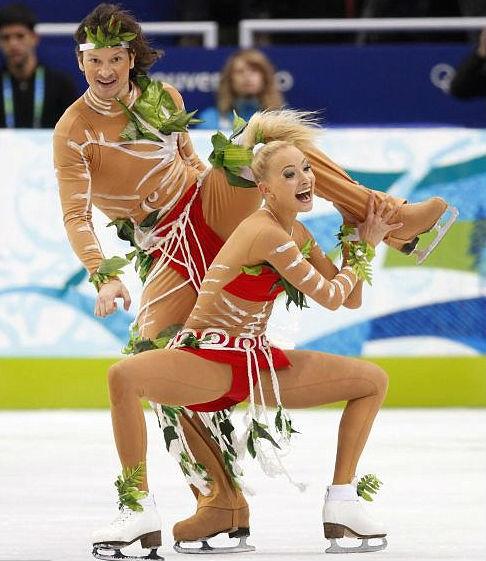Сексуальные костюмы российских спортсменок, таню трахают негры