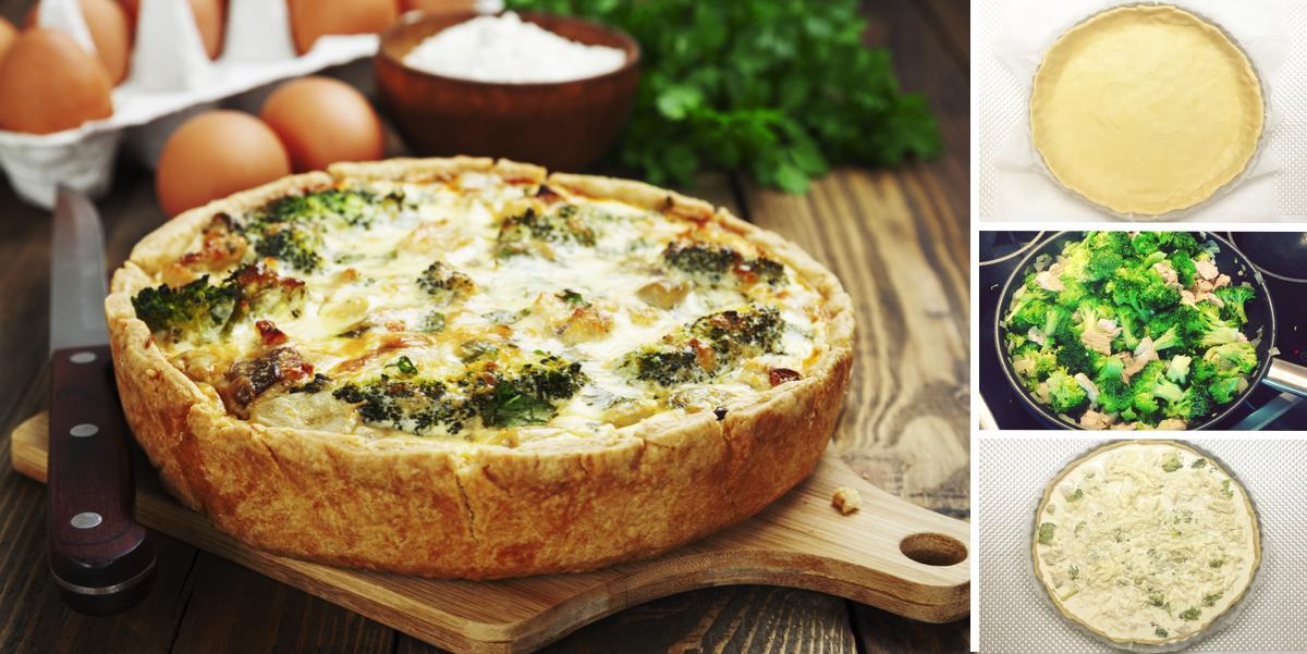 Французский киш с курицей, брокколи и сыром: пошаговый фото рецепт