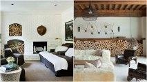 Идеи вашего дома: 20 удивительных и великолепных способов хранения дров в гостиной