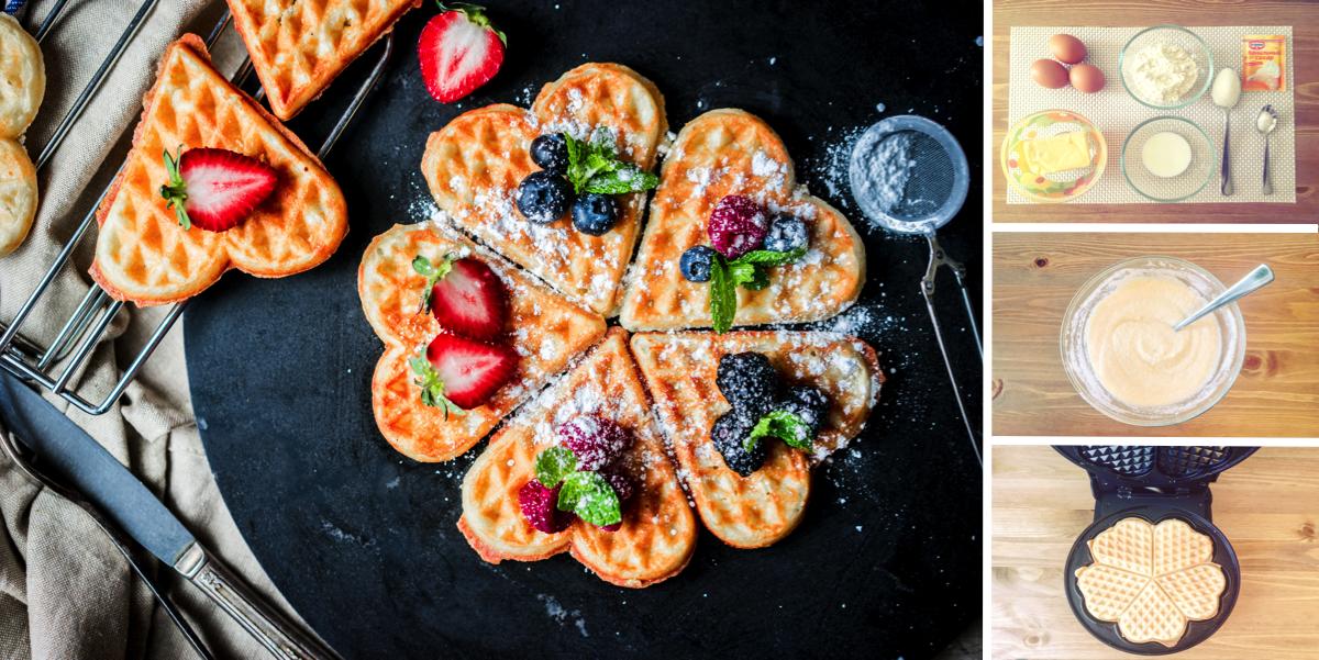 Быстрые бельгийские вафли: пошаговый фото рецепт