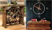 Идеи вашего дома: 25 творческих вариантов использования колеса в домашнем декоре