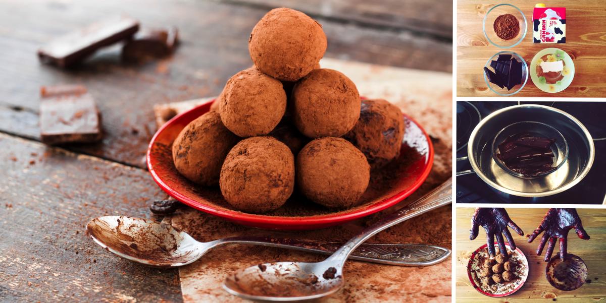 Шоколадные трюфели за 20 минут: пошаговый фото рецепт