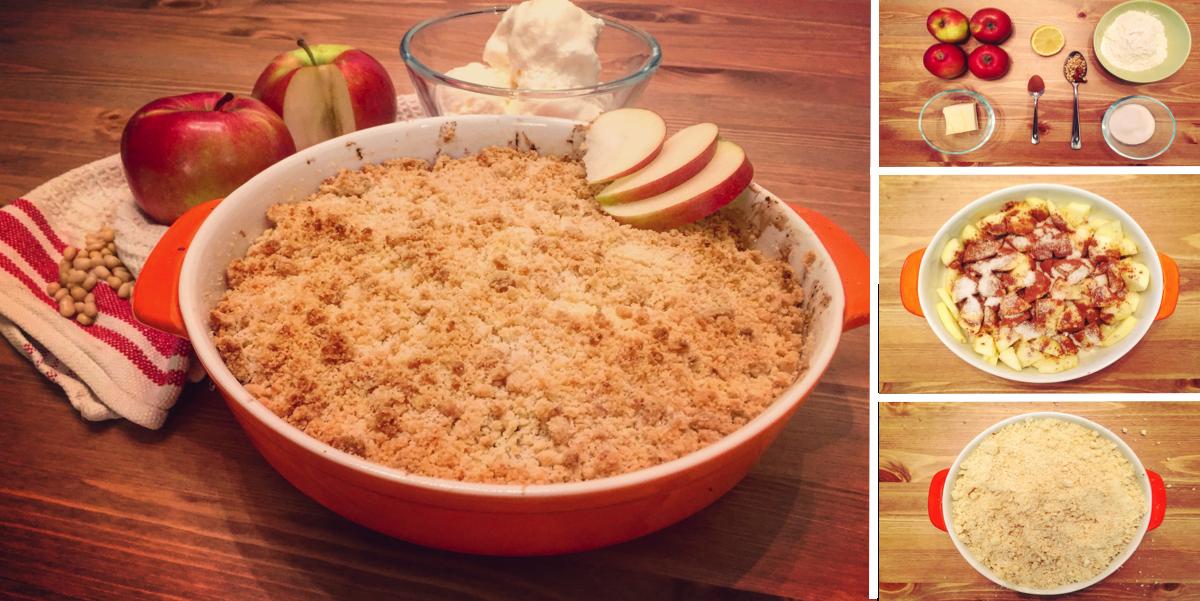 Яблочный крамбл: пошаговый фото-рецепт