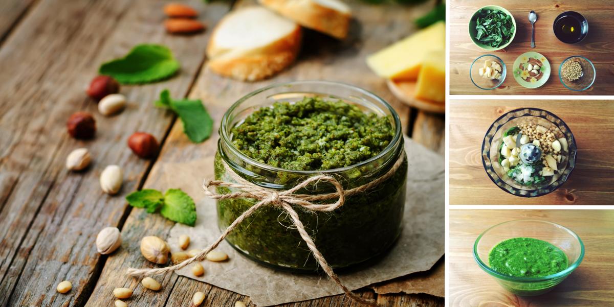 Домашний соус Песто из базилика и кедровых орехов: пошаговый фото рецепт