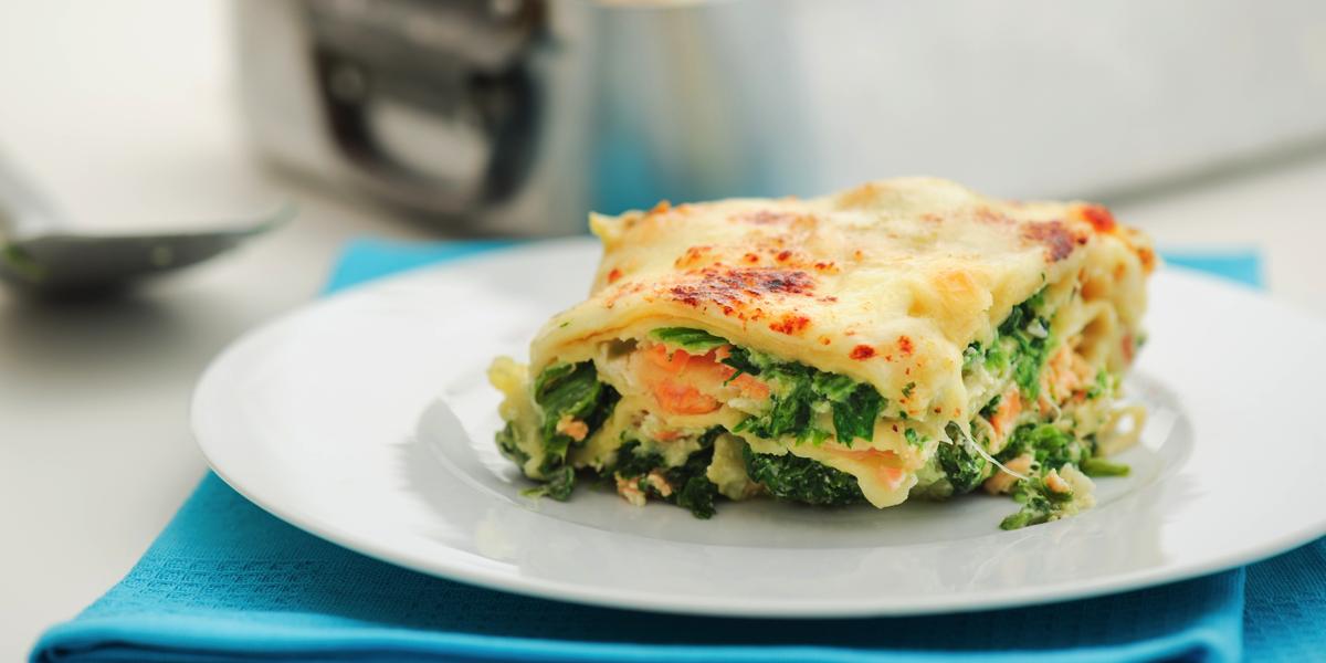 Фото Лазанья с лососем и шпинатом: прованская вариация известного блюда