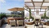 Идеи вашего дома: 32 идеи по оформлению летних террас на крышах и не только