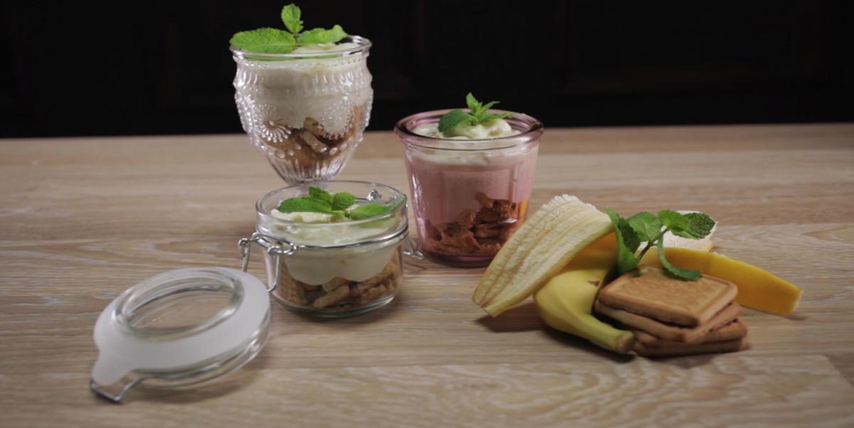 Банановый пудинг в стакане