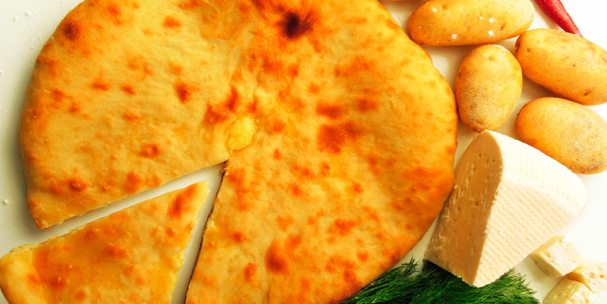 Фото Восточные лепешки с картофелем, сыром и зеленью