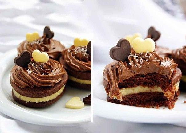 Фото Шоколадное печенье с кокосовым кремом