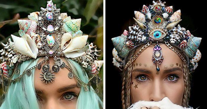 Фото Потрясающие короны из ракушек превратят любую девушку в современную русалку