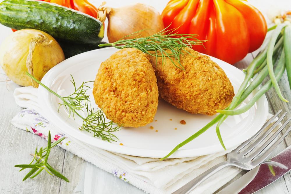 Котлеты из крабовых палочек с сыром