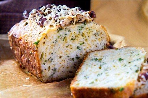 Фото Кекс с сыром и зеленью