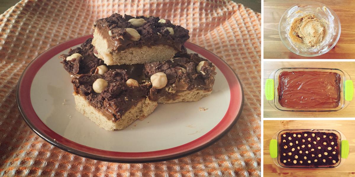 Фото Песочное печенье с сгущеным молоком, шоколадом и орешками