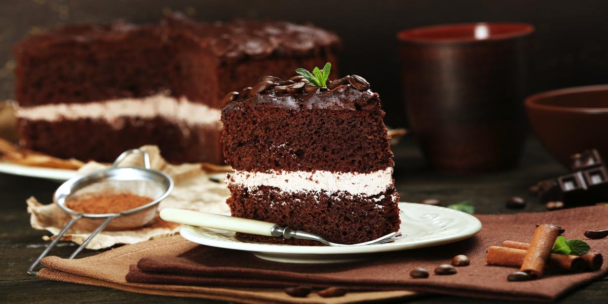 Фото Шоколадный торт с молочным кремом