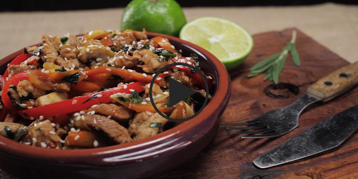 Мясо стир-фрай: видео рецепт
