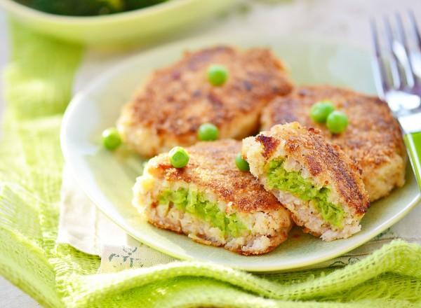 Фото Рыбные зразы с зеленым горошком