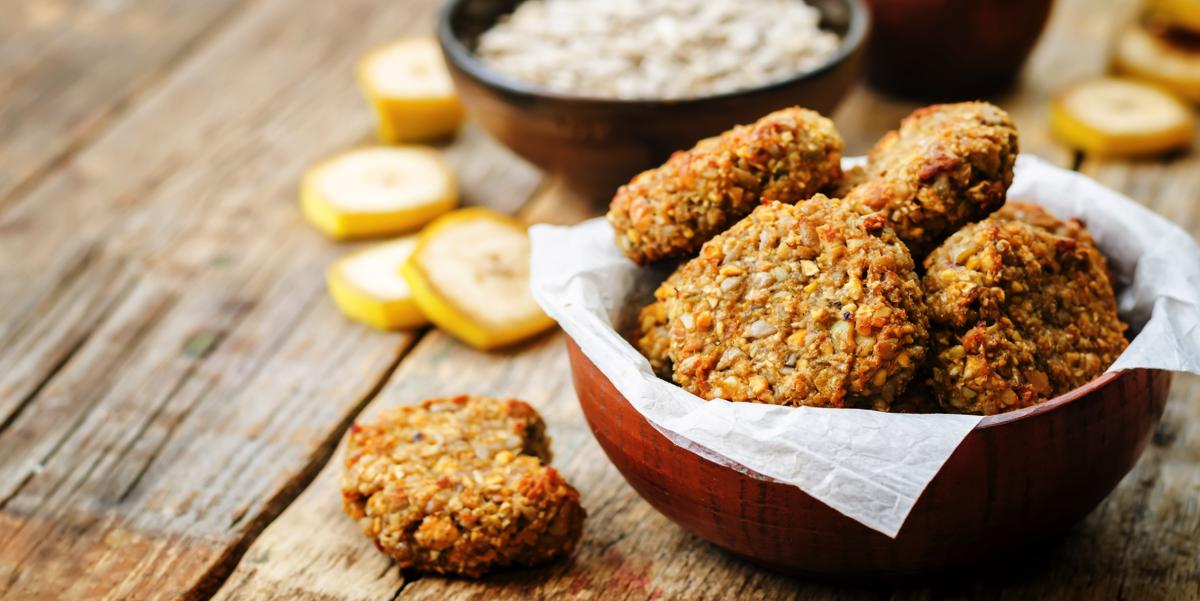 Фото Овсяное печенье с добавлением цельнозерновой муки и меда