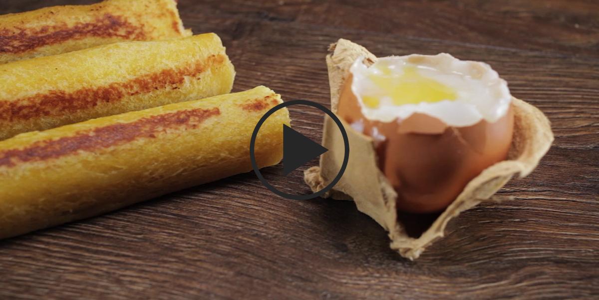Хлебные роллы на завтрак
