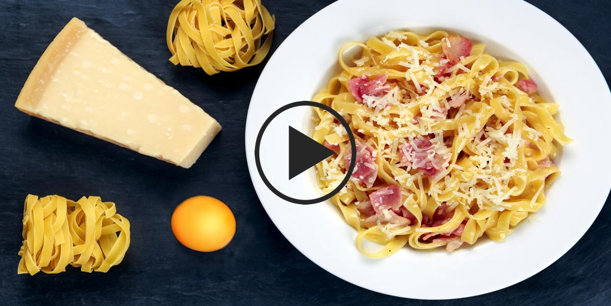 Паста карбонара: видео-рецепт