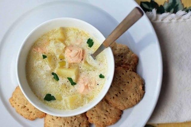 Лохикейтто-финский сливочный суп с лососем