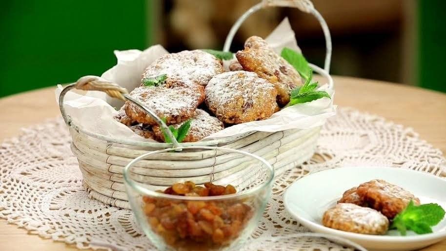 Хрустящее овсяное печенье с финиками