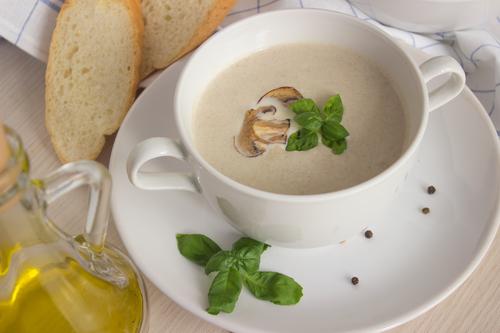 Фото Суп из сливочного сыра с грибами