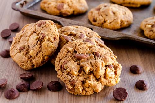 Фото Печенье с кусочками шоколада