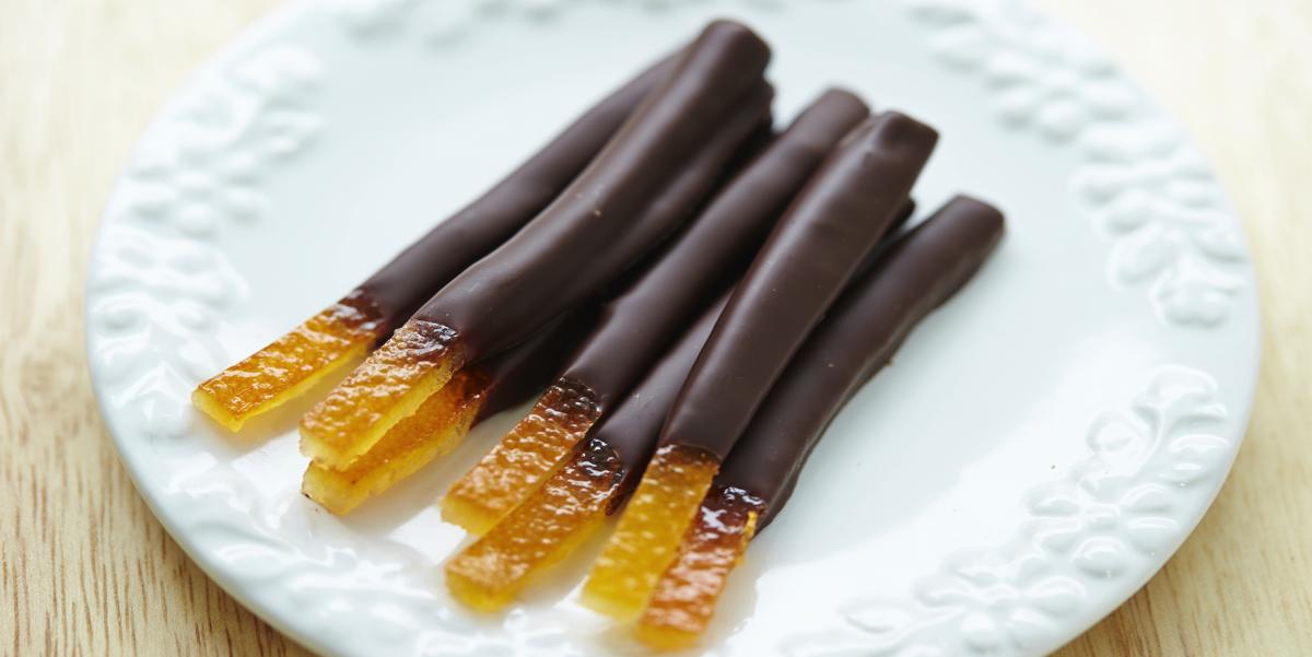 Фото Апельсиновые цукаты в шоколаде