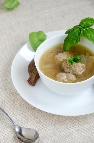 Фото Вермишелевый суп с гречневыми фрикадельками