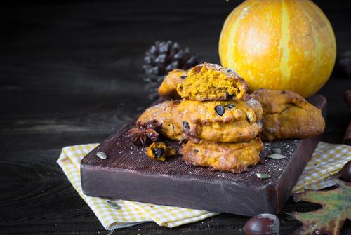 Фото Тыквенное печенье с шоколадом