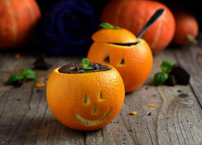 Шоколадный пудинг с апельсинами
