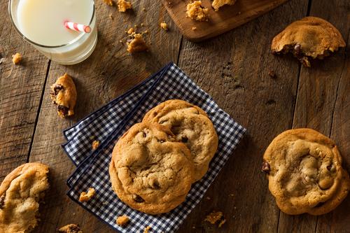 Фото Ореховое печенье с шоколадом