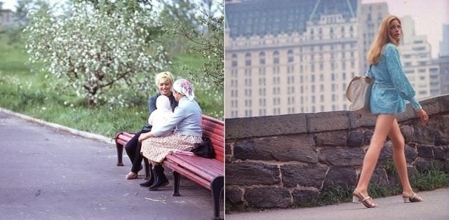 Фото Восток и Запад: цветные фото Москвы и Нью-Йорка в 1969 году