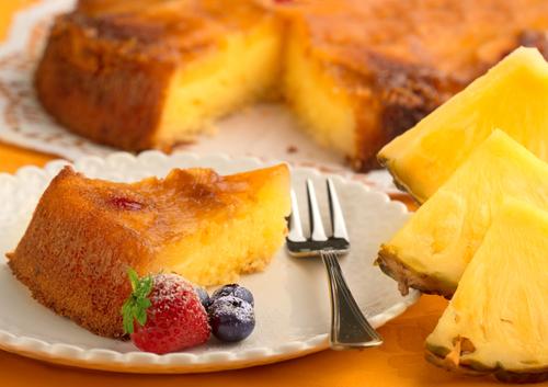 Фото Рецепт приготовления ананасового пирога с простыми пошаговыми инструкциями.