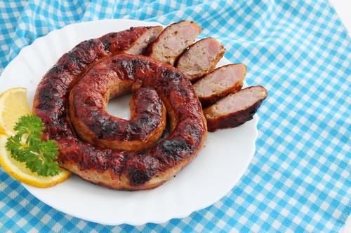 Фото Домашняя колбаса в фольге
