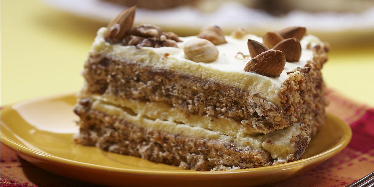Фото Ореховый торт без муки