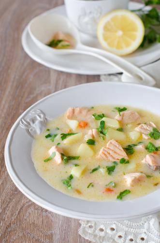 Фото Сырный суп с рыбой