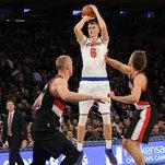 Knicks 107, Blazers 103: Derrick Rose, in Triumphant Flash, Lifts Knicks Over Trail Blazers