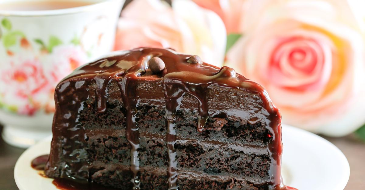 Шоколадный торт с коньяком