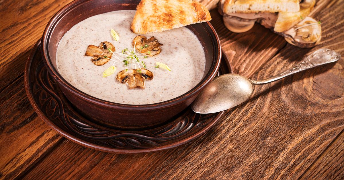 Фото Грибной суп-пюре со сливками