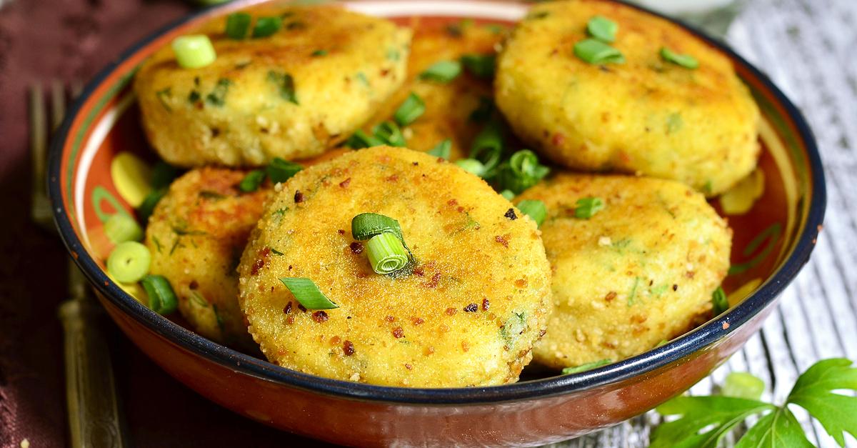 Фото Алу тикки – индийские картофельные котлетки