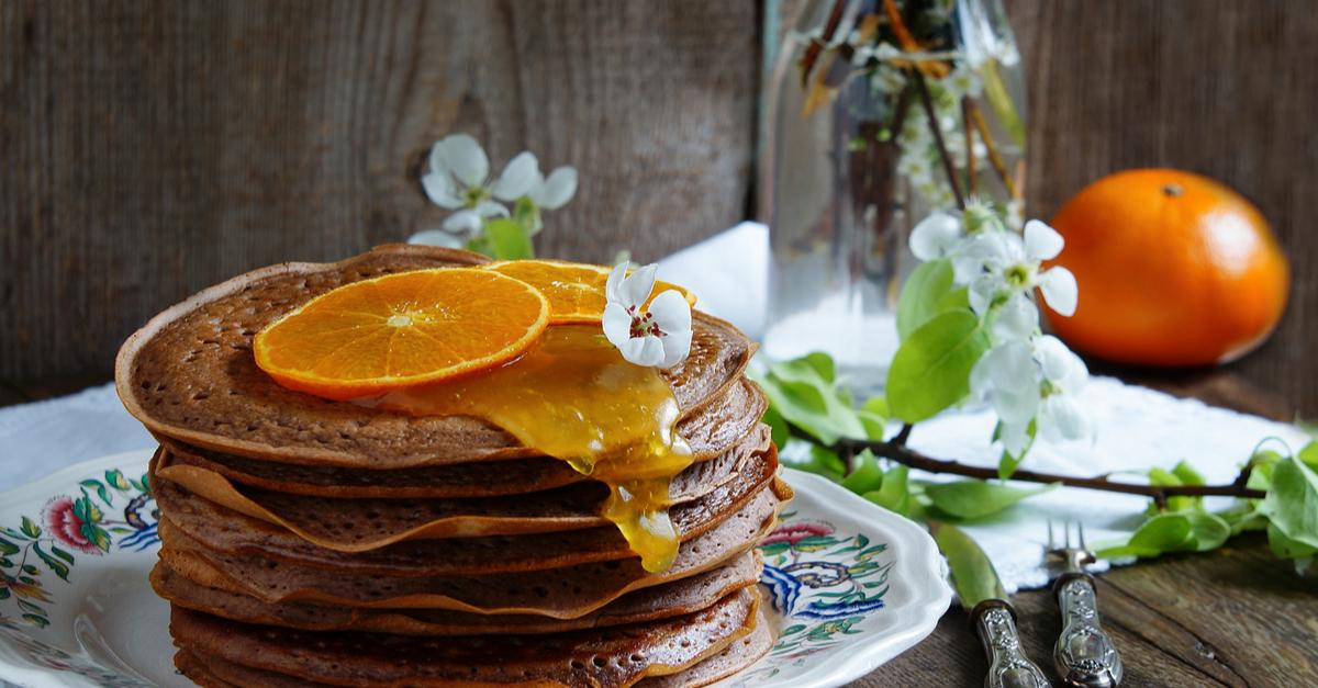 Фото Овсяные блинчики с шоколадно-апельсиновой ноткой