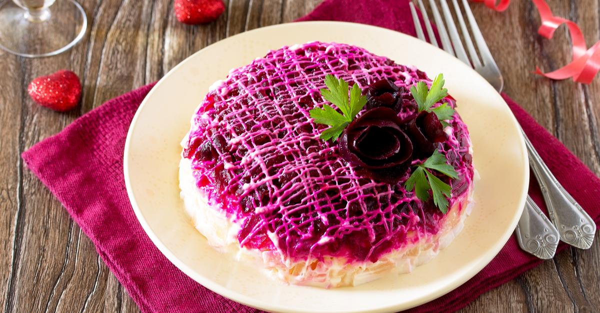 Фото Классический рецепт селедки под шубой