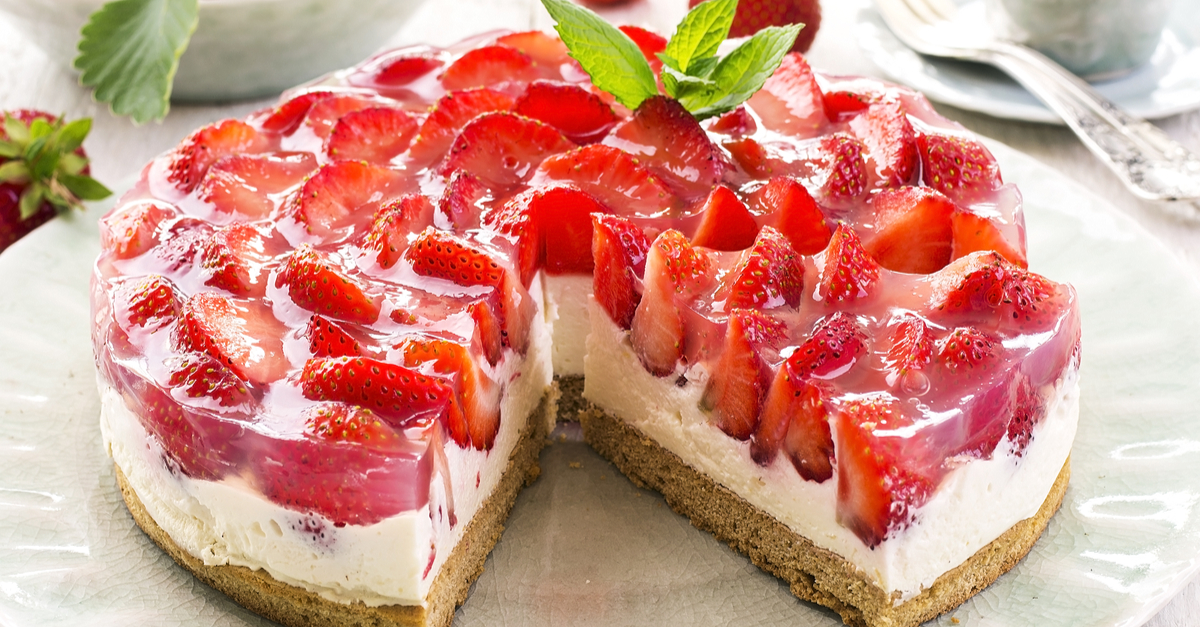 Клубнично-творожный десерт