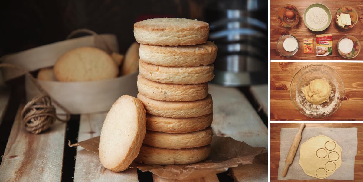 Нежное молочное печенье на завтрак: пошаговый фото рецепт