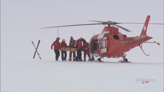 Фото Травма Лары Гут, после которой ей на помощь прилетел вертолет