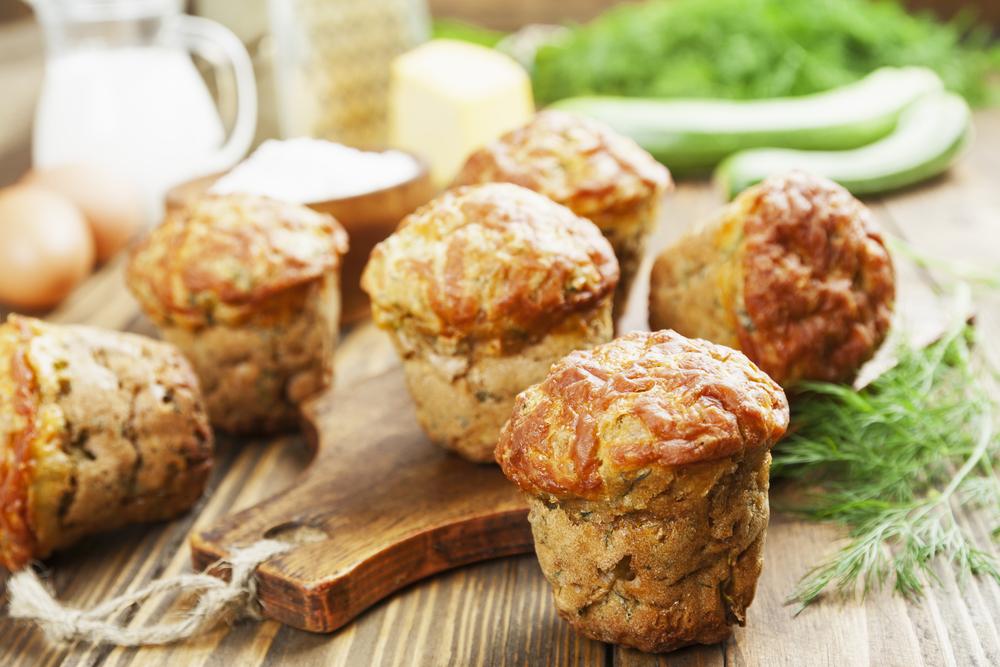 Маффины с кабачками: питательный перекус!